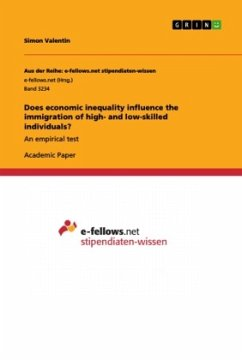 Does economic inequality influence the immigration of high- and low-skilled individuals? - Valentin, Simon