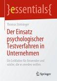 Der Einsatz psychologischer Testverfahren in Unternehmen (eBook, PDF)