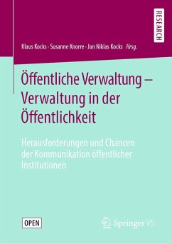 Öffentliche Verwaltung - Verwaltung in der Öffentlichkeit (eBook, PDF)
