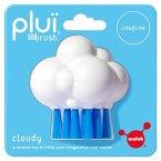 Moluk 2843075 - Pluï Brush Cloudy Bürste, Spielbürste, Wasserspielzeug, 9 cm, weiß/blau