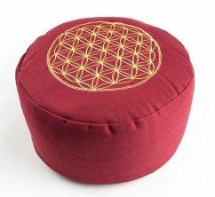 Blume des Lebens Meditationskissen rot