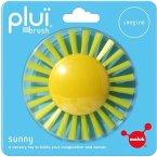 Moluk 2843070 - Pluï Brush Sunny Bürste, Spielbürste, Wasserspielzeug, 9 cm, gelb