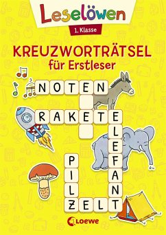 Leselöwen Kreuzworträtsel für Erstleser - 1. Klasse (Gelb)