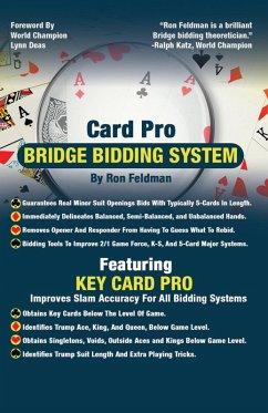 Card Pro Bridge Bidding System (eBook, ePUB) - Feldman, Ron