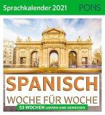 PONS Sprachkalender 2021 SPANISCH Woche für Woche