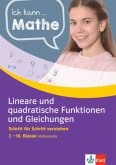 Ich kann Mathe Lineare und quadratische Funktionen und Gleichungen 7. - 10. Klasse