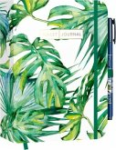 "Pocket Bullet Journal ""Leaves"" mit Original Tombow Brush Pen Fudenosuke in schwarz"