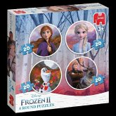 Frozen 2 - 4in1 Rundes Puzzle (Kinderpuzzle)