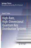 High-Rate, High-Dimensional Quantum Key Distribution Systems