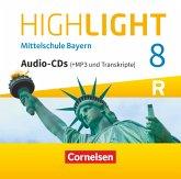 Highlight - Mittelschule Bayern - 8. Jahrgangsstufe, Audio-CDs, MP3 / Highlight - Mittelschule Bayern