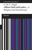 »Wenn Gott nicht wäre ...«. Religion und Versöhnung