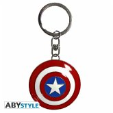 ABYstyle - Marvel - Schild Captain America 3D-Schlüsselanhänger