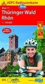 ADFC-Radtourenkarte 17 Thüringer Wald Rhön 1:150.000, reiß- und wetterfest, GPS-Tracks Download