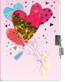 Trötsch Tagebuch mit Pailletten Herz