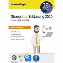 SteuerSparErklärung 2020 Selbstständige für Steuerjahr 2019 (PC) (Download für Windows)