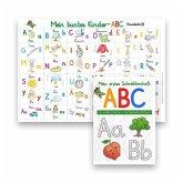 Mein buntes Kinder-ABC DIN A4 Grundschrift + Mein erstes Schreiblernheft Grundschrift, 2 Teile