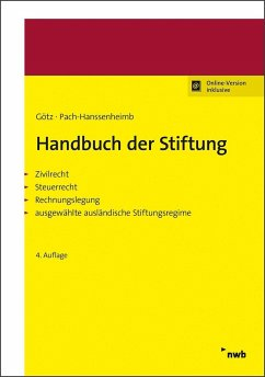 Handbuch der Stiftung - Götz, Hellmut;Pach-Hanssenheimb, Ferdinand