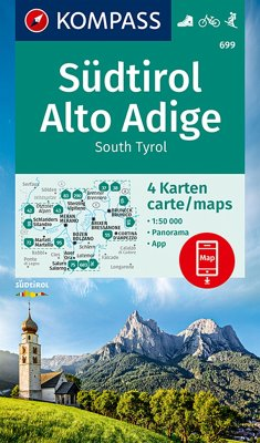 KOMPASS Wanderkarte Südtirol, Alto Adige, South Tyrol