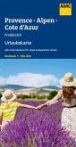 ADAC Urlaubskarte F Provence, Französiche Alpen, Cote d'Azur 1:300 000