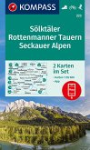 KOMPASS Wanderkarte Sölktäler, Rottenmanner Tauern, Seckauer Alpen