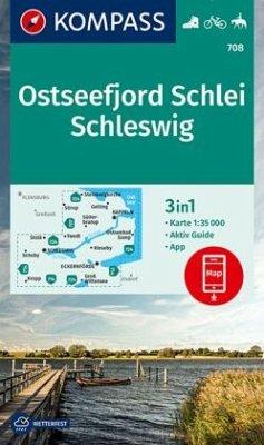KOMPASS Wanderkarte Ostseefjord Schlei, Schleswig