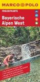 MARCO POLO Freizeitkarte Deutschland Blatt 45 Bayerische Alpen West