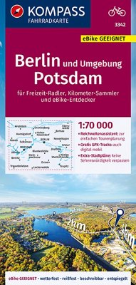KOMPASS Fahrradkarte Berlin und Umgebung, Potsdam 1:70.000, FK 3342