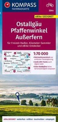 KOMPASS Fahrradkarte Ostallgäu, Pfaffenwinkel, Außerfern 1:70.000