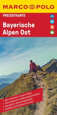 MARCO POLO Freizeitkarte Bayerische Alpen Ost 1:100 000