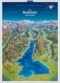 KOMPASS Panorama Der Gardasee, Lago di Garda, Poster