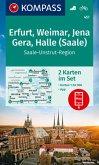 KOMPASS Wanderkarte Erfurt, Weimar, Jena, Gera, Halle (Saale), 2 Bl.