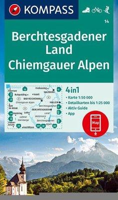 KOMPASS Wanderkarte Berchtesgadener Land, Chiemgauer Alpen