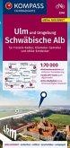 KOMPASS Fahrradkarte Ulm und Umgebung, Schwäbische Alb 1:70.000, FK 3346