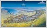 KOMPASS Panorama Die Alpen von Norden, Poster