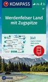 KOMPASS Wanderkarte Werdenfelser Land mit Zugspitze