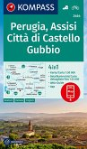 KOMPASS Wanderkarte Perugia, Assisi, Città di Castello, Gubbio