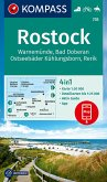 KOMPASS Wanderkarte Rostock, Warnemünde, Bad Doberan, Ostseebäder Kühlungsborn, Rerik