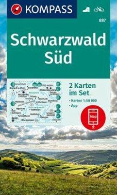 KOMPASS Wanderkarte Schwarzwald Süd, 2 Bl.