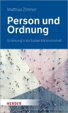 Person und Ordnung (eBook, ePUB)