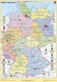 Deutschland politisch mit Bundesländerwappen