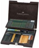 Faber-Castell Pitt Monochrome, 85er Set Holzkoffer