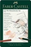 Faber-Castell Pitt Monochrome, 12er Set Metalletui