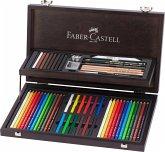 Faber-Castell Art & Graphic Compendium, 53er Set Holzkoffer