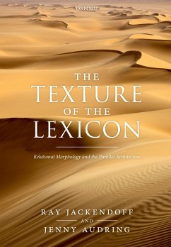 The Texture of the Lexicon (eBook, PDF) - Jackendoff, Ray; Audring, Jenny