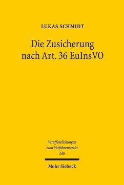 Die Zusicherung nach Art. 36 EuInsVO (eBook, PDF) - Schmidt, Lukas