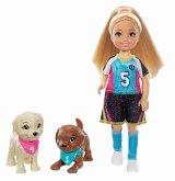 """Barbie """"Traumvilla Abenteuer"""" Chelsea Fußballerin Puppe und Spielset"""