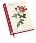 Redoutés Rosen Taschenkalender 2021 - Terminplaner mit Wochenkalendarium - Format 11,3 x 16,3 cm