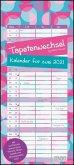 Tapetenwechsel 2021 - Kalender für zwei - Notizkalender - Partner-Planer - Format 22 x 49,5 cm