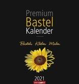 Premium Bastelkalender 2021 Schwarz 34 x 32 cm