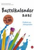 Bastelkalender weiß A4 - Kalender 2021